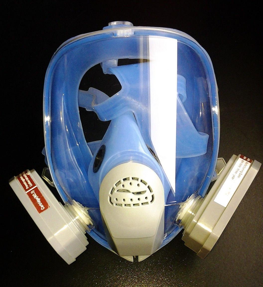 Маска лицевая обзорная с хим. фильтрами (трапеция) марки А (код 9900А) в силиконовой оправе