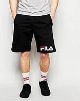 Шорты  FILA ( Фила ) чёрные трикотажные