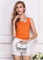 Майка-блузка свободная оранжевая 081