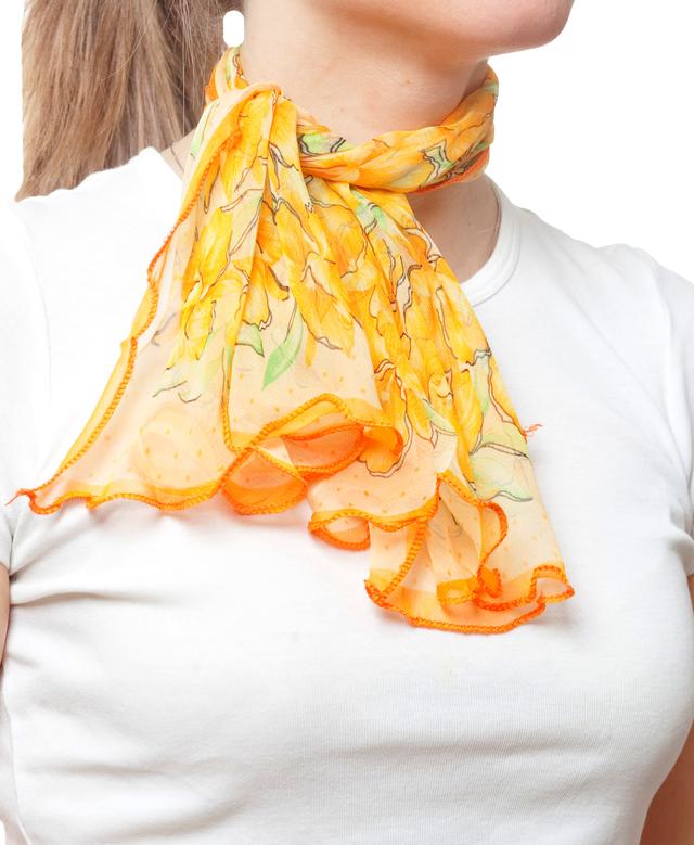 Нежный шейный платок 60*60  (61061) 2
