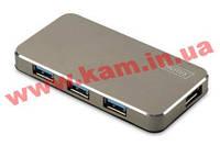 Концентратор DIGITUS USB 3.0, 4 порта, Черный (DA-70240)