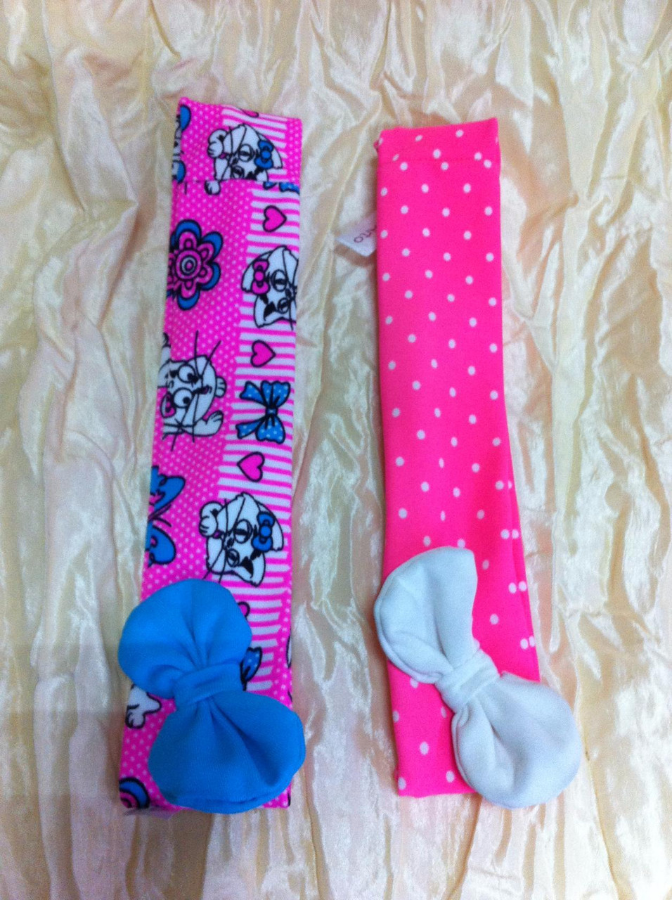 Эластичная повязка с бантом для девочки