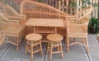 Комплект плетеной мебели из лозы для ресторана, фото 1
