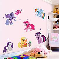 Виниловая наклейка на стену My little pony пони