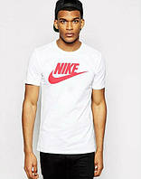 Мужская спортивная футболка найк белая,Nike