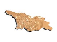 Латунный шильдик Грузия