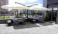 """Уличные  консольные зонты """"DOUBLE XL"""" 6х3м. для летних площадок баров, ресторанов и гостинниц"""