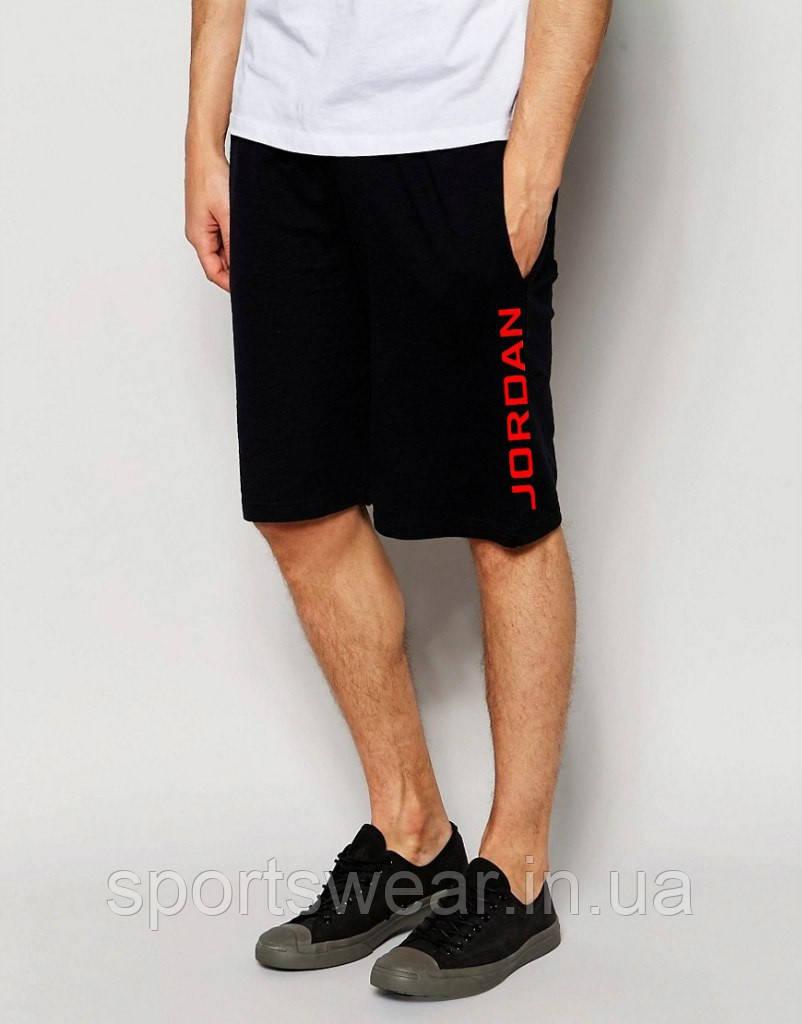 """Шорты Jordan ( Джордан ) чёрные вертикальный принт красный """""""" В стиле Jordan """""""""""