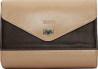 Красивая женская сумка из натуральной кожи VATTO Wk4 N1Kaz400, капучино с коричневым