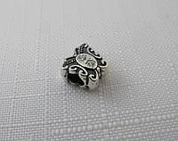 Бусина ШАРМ серебро 925* БАБОЧКА