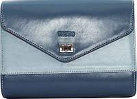Шикарная женская сумка из натуральной кожи VATTO Wk4 N7.2, голубой с синим