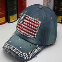 Джинсовая кепка USA