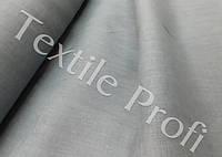 Льняная костюмная ткань (серого цвета)