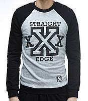 "Свитшот ""Ястребь"" «Straight Edge» черно-серый (без начеса), фото 1"