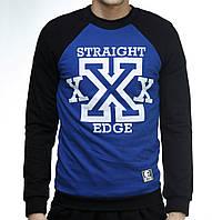 """Свитшот """"Ястребь"""" «Straight Edge » черно-синий (без начеса), фото 1"""