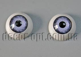 Глазки куклы круглые голубые 12 мм 2 шт.