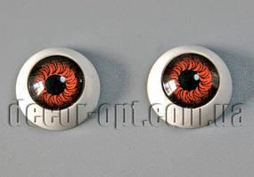 Глазки куклы круглые карие 12 мм 2 шт.