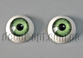 Глазки куклы круглые зеленые 12 мм 2 шт.