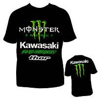 Футболка MONSTER KAWASAKI PRO CIRCUIT черная