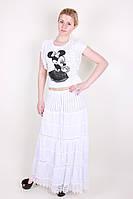 Оригинальная легкая летняя женская юбка белого цвета