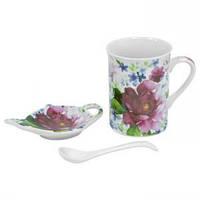 Набор для чая Шиповник 3 предмета KERAMIA