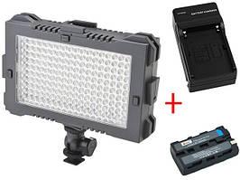 Накамерный видео свет LED F&V Z180S Ultracolor CRI 95% Bi-color (Би-светодиодная) (Z180S)