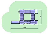 """Детский комплекс Kidigo """"Счастье"""" высота горки 0,6  м"""