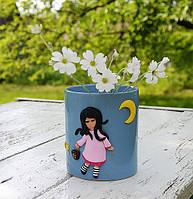 Подарок на день рождения Декор чашки полимерной глиной