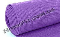 Коврик для фитнеса и йоги 4мм Yoga mat (173см/61см) ПВХ