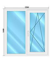 Окно металопластиковое 1400*1300