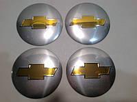 Наклейка выпуклая на колпачок диска Chevrolet диаметр 56 мм