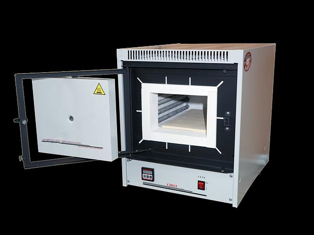 Муфельная лабораторная печь СНОЛ - 8,2/1100 (микропроц./волокно), фото 2