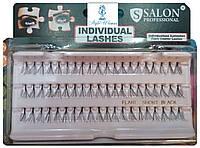 Накладные ресницы пучки SALON, короткие черные