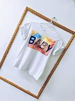 """Футболка женская из хлопка разные цвета """"Baby"""" SFv139"""