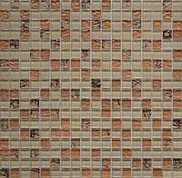 Мозаика Grand Kerama 300x300 бежевый-бронза рельеф-камень 582