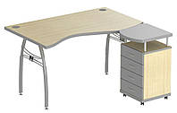 Стол 1,6 М95 АртМобил мет.каркас клен/серый