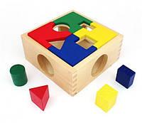 """Деревянная игрушка Занимательная коробка в картонной коробке ТМ """"Игрушки из дерева"""" Д029"""
