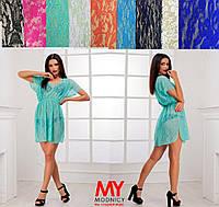Пляжное гипюровое платье - туника 3239