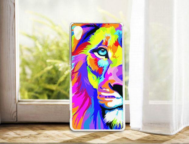 Силіконовий чохол бампер для Sony Xperia M4 Aqua / E2333 з картинкою лев