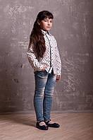 Стильная детская рубашка белого цвета