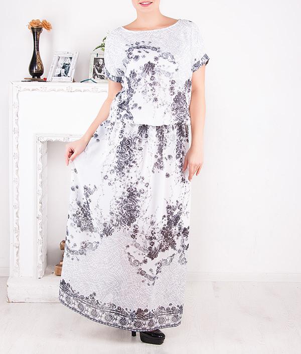 """Шифоновое платье в пол """"Бастиона"""" от 46 до 62 размера"""