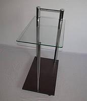Сервировочный стеклянный стол