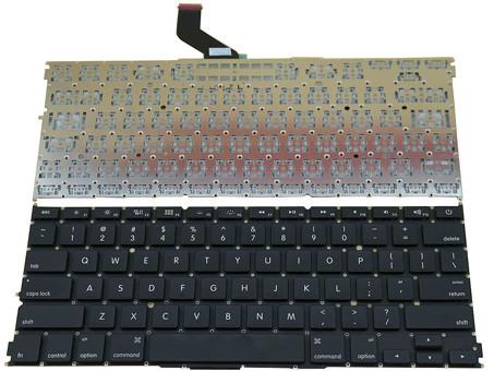 "Клавиатура для ноутбука APPLE (MacBook Pro Retina: A1425, A1502 (2012) 13"") rus, black"