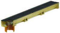 Канал ACO Self Euroline с решеткой чугунной и отводом DN=100 мм
