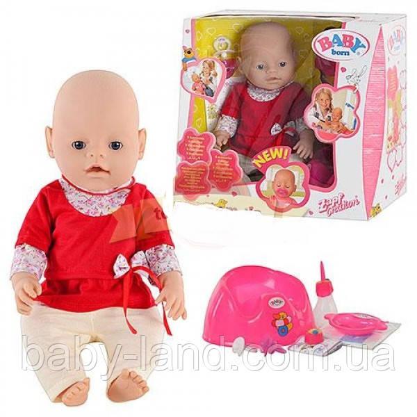 Кукла-пупс Baby Born с аксессуарами функциональный Limo Toy 8001-5