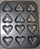 Форма для выпекания 12 сердец