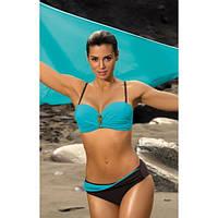 Эффектный купальный костюм с модной съемной брошью на бюстгальтере