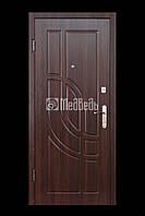"""Дверь входная """"МДФ/МДФ с одним контуром орех темный"""" 950х2040 правая"""