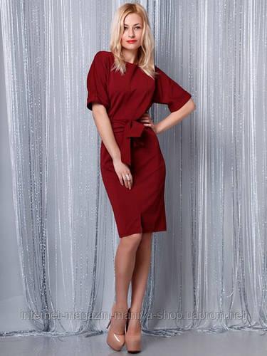 Платье женское змейка по спинке + пояс