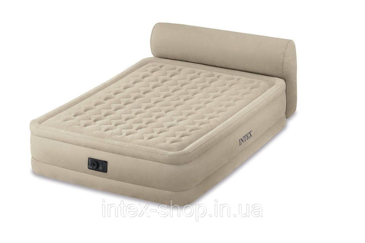 Ліжко зі спинкою і вбудованим насосом Headboard Queen, Intex 64460